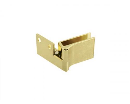 Петля для стекла угловая золото (D-614 G3) ДС