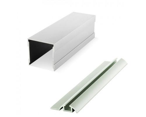 Шина одинарные алюминиевая верх+низ (комплект) для раздвижных дверей