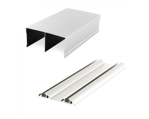 Шина двойная алюминиевая верх+низ (комплект) для раздвижных дверей