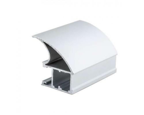 Профиль алюминиевый вертикальный широкая ручка для раздвижных дверей