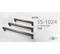 Ручка мебельная SS-1024 нержавейка матовый антрацит
