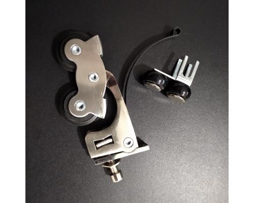 Комплект роликов для раздвижных дверей (верх+низ) усиленный (80кг)