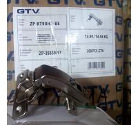 Петля GTV равнолежащая (штольная) ZP-KT90H2-BE (с монтажной планкой)