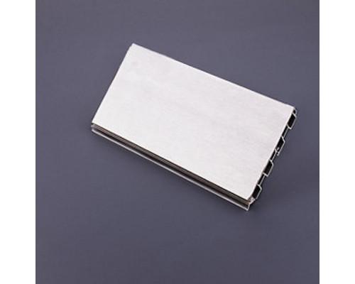 Цоколь ПВХ покрытие алюминий CU L-4000/H-100