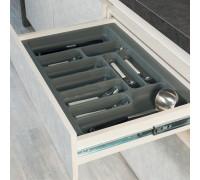 Лоток Starax для столовых приборов серый