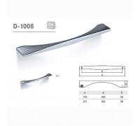 Ручка мебельная D-1006 полированный хром