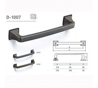 Ручка мебельная D-1007 матовый античный никель