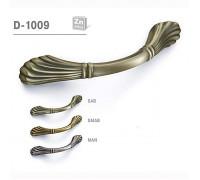Ручка мебельная D-1009 блестящая античная бронза