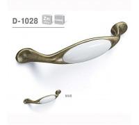 Ручка мебельная D-1028 матовая античная бронза с керамикой