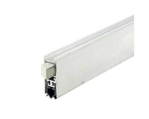 Уплотнитель выпадающий алюминий/силикон серый 830 мм
