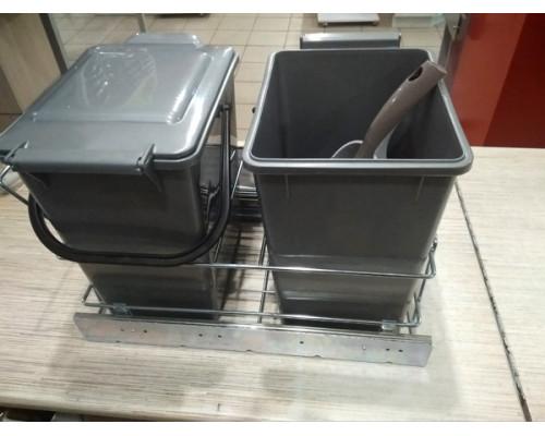 Ведро мусорное на направляющих (2х10 л)