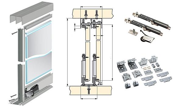 Картинки по запросу Системы раздвижных дверей для шкафов-купе