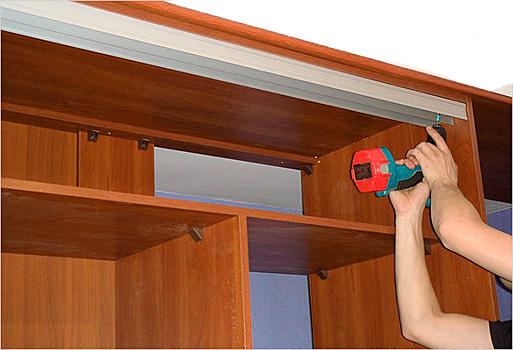 Как сделать двери на шкаф купе