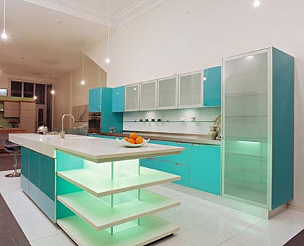 glass facades for the kitchen